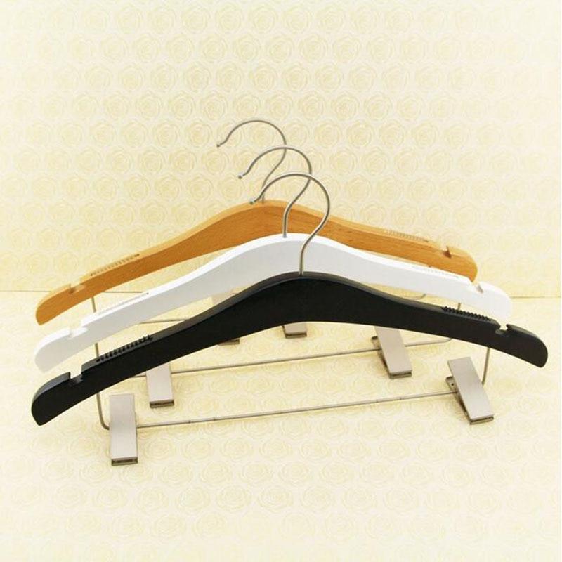 Frete grátis   de luxo de bordo de madeira cabide para vestido, 3 cores (  10 peças lote ) 8613571e53