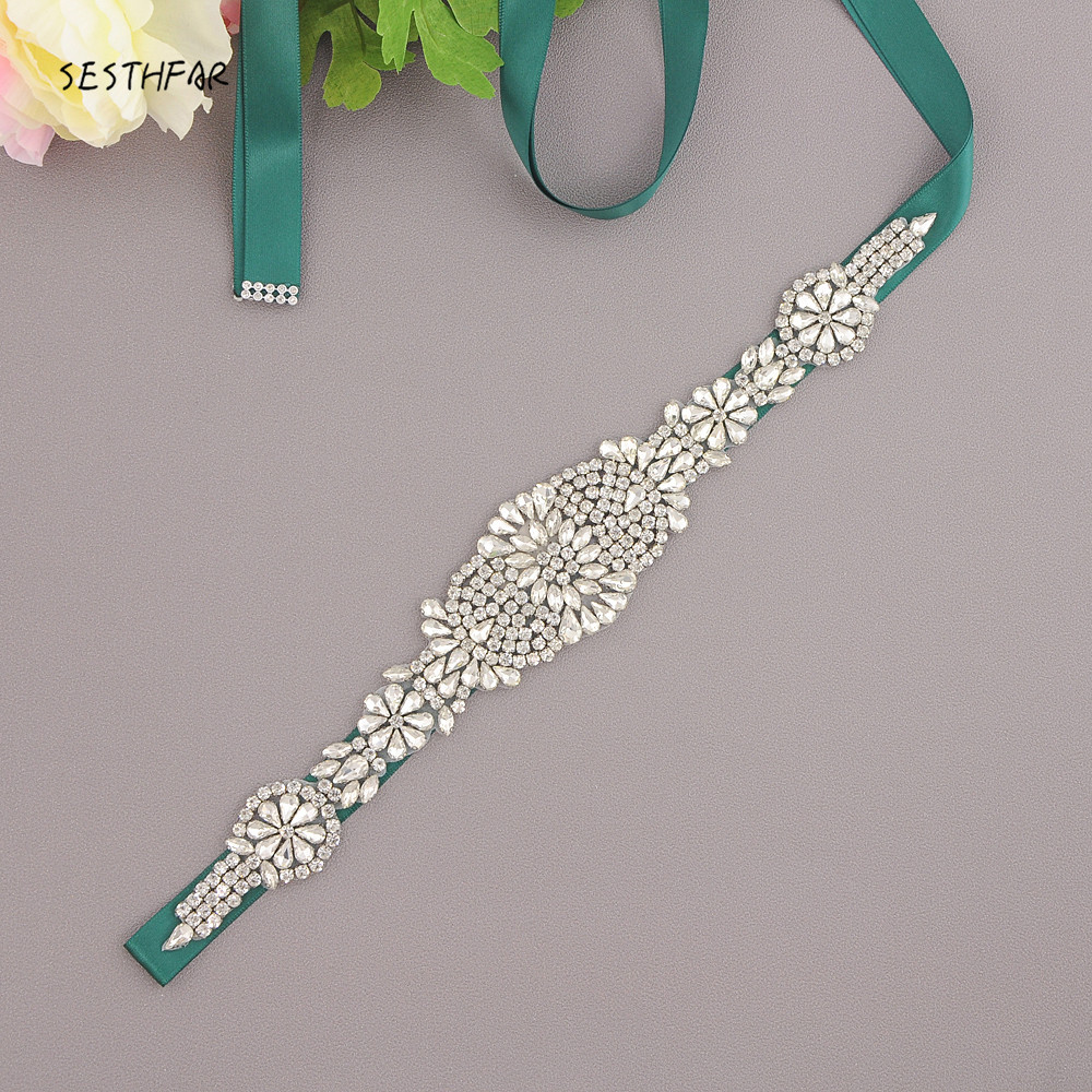 Free Shipping Elegent Crystal Bridal Sash Rhinestone Wedding Party Bride Bridesmaid Belt Dress Sash JY123F In Stock free shipping 5pcs p4004ed p4004 in stock