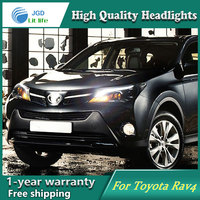 High Quality Car Styling Head Lamp Case For Toyota Rav4 2014 2015 2016 LED Headlight DRL
