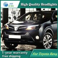 High Quality Car Styling Head Lamp Case For Toyota Rav4 2014 2015 2016 LED Headlight DRL