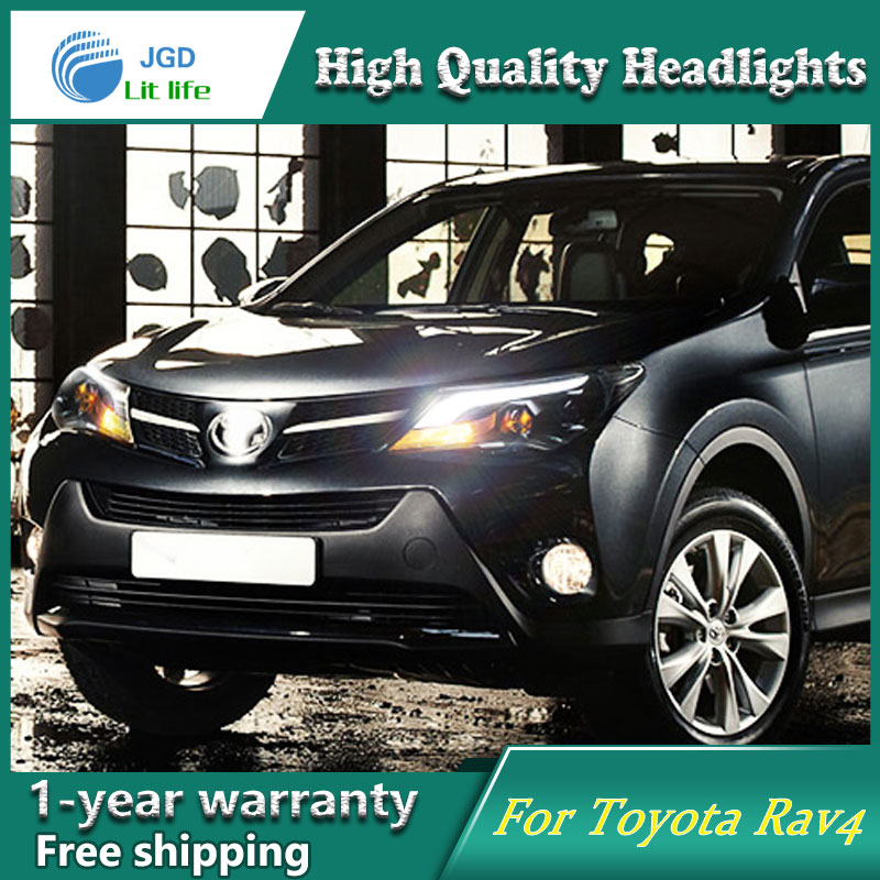 high quality Car Styling Head Lamp case for Toyota rav4 2014 2015 2016 LED Headlight DRL Daytime Running Light Bi-Xenon HID special car trunk mats for toyota all models corolla camry rav4 auris prius yalis avensis 2014 accessories car styling auto