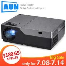 AUN проектор Full HD M18UP, 1920×1080 Разрешение. Android wifi светодиодный проектор, для 4 K видео Бимер. (Опционально Поддержка M18 AC3)