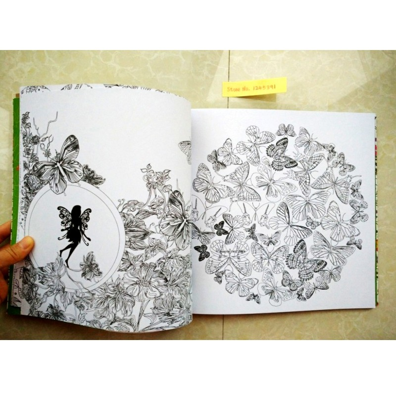 96 Pages Elves Friendly Forest Coloring Books For Children Adult ...