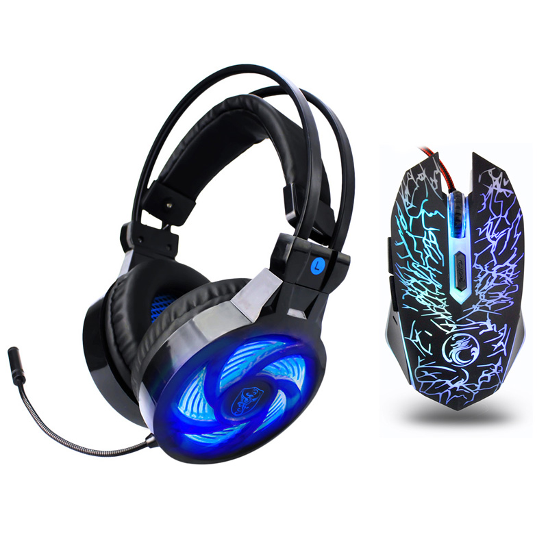 3.5mm Gaming headphone Earphone Gaming Headset Headphone Xbox One Headset with microphone led for pc ps4 playstation 4 laptop