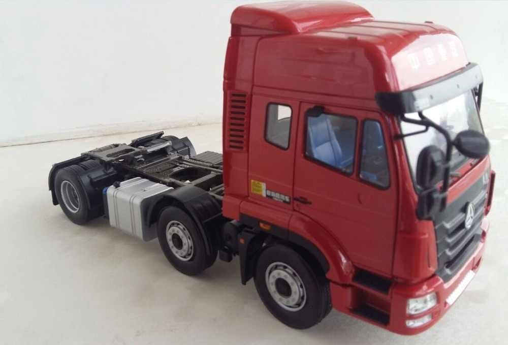 Langka koleksi Alloy Model Hadiah 1:24 Skala Sinotruk Hohan 6*2 Truk Traktor Kendaraan Trailer Diecast Model Mainan Dekorasi