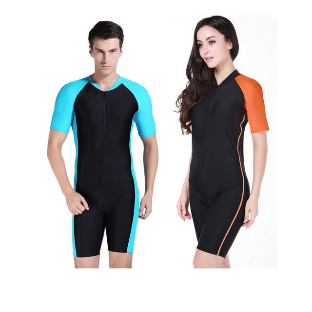 3e0606504f Diving Suit Women And Men Short Sleeve Wetsuit Quick-Dry One Pieces Wetsuit  Kite Surfing Swimming Swimsuit Swimwear Rash guard