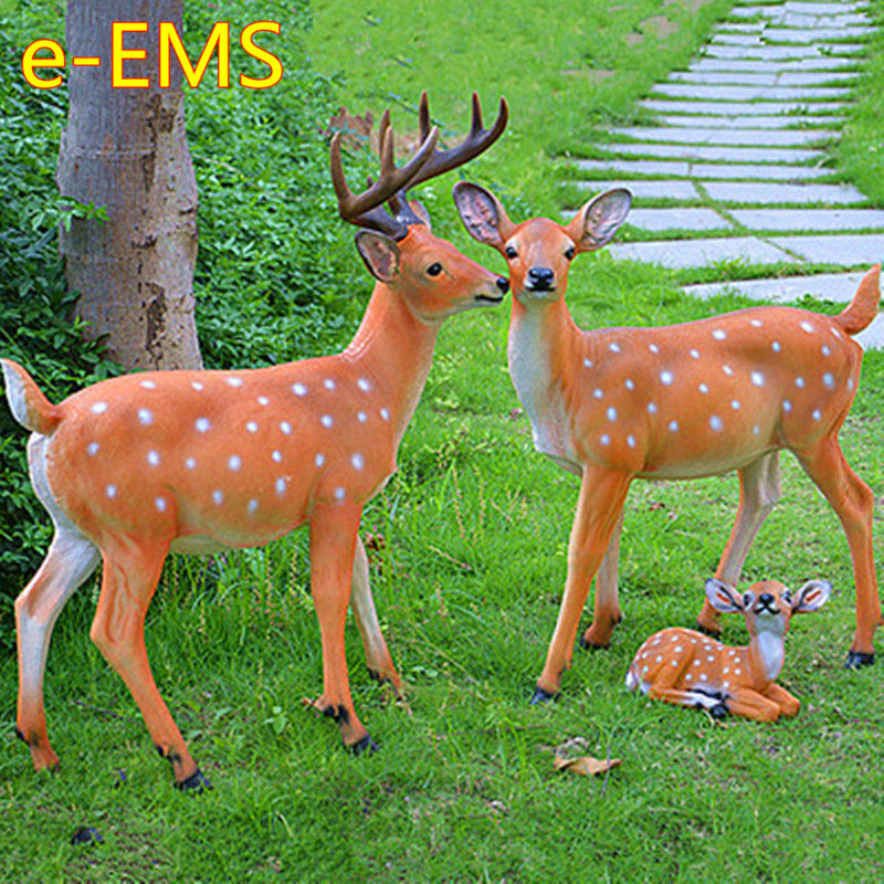 Simulation Sika Deer Furnishings Colophony Crafts Landscape Decoration Animal Model Statue G2311Simulation Sika Deer Furnishings Colophony Crafts Landscape Decoration Animal Model Statue G2311