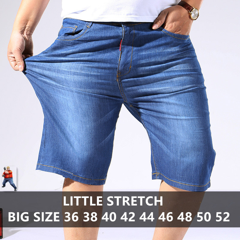 Jeans   Men Modis Denim Shorts Summer Blue Streetwear Plus Size   Jean   Big 44 46 48 50 Male Calca Masculina Short Masculino Hombre