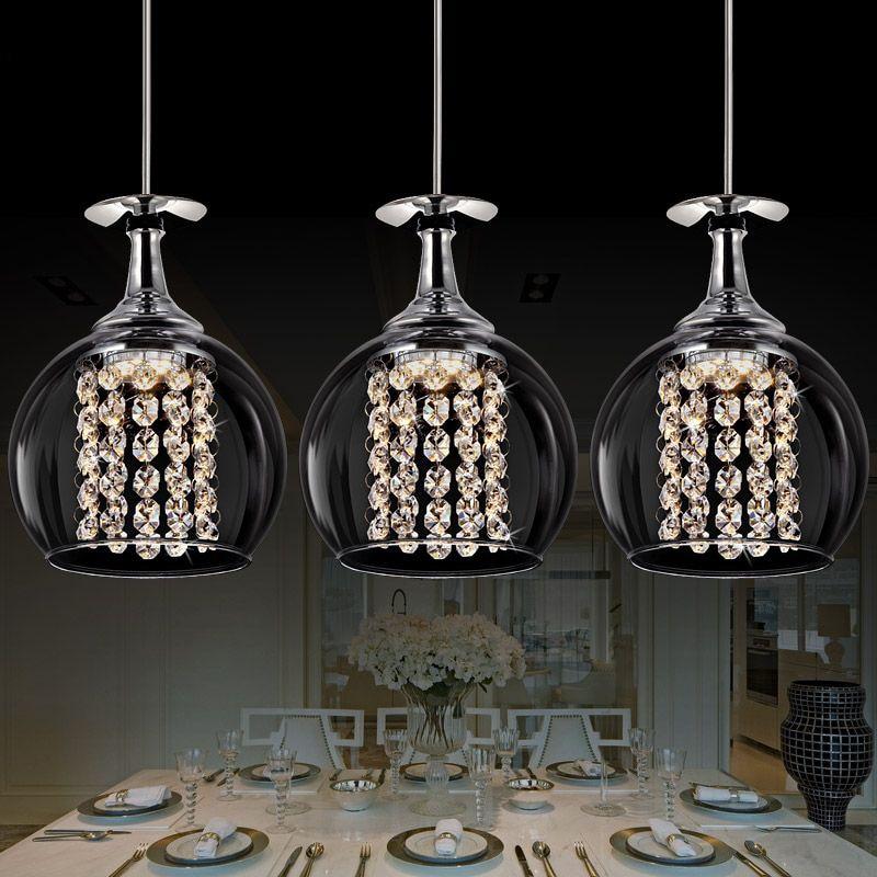 Gratis verzending 3 lights eetkamer glazen hanglamp tready wijn ...