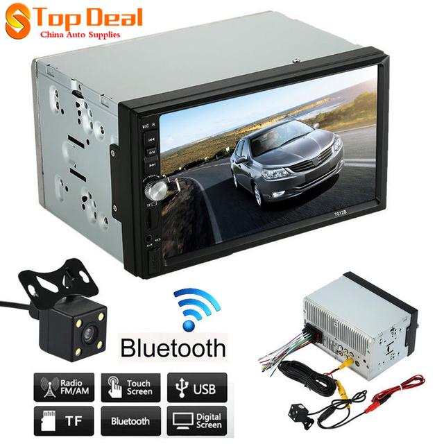 7012B 7 Polegada TFT Bluetooth Estéreo de Áudio Do Carro Da Tela MP4 MP5 jogador 12 V Auto 2 Dins Suporte AUX FM USB SD MMC