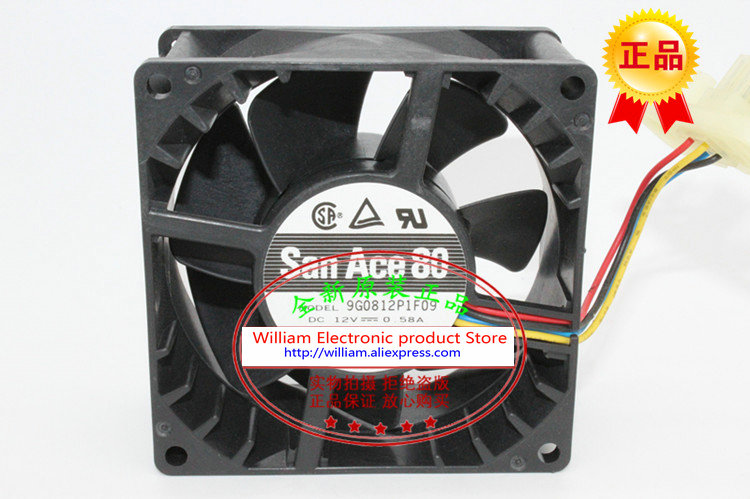 New Original Sanyo 9G0812P1F09 12V 0 58A 80 80 38MM 8cm Computer font b server b