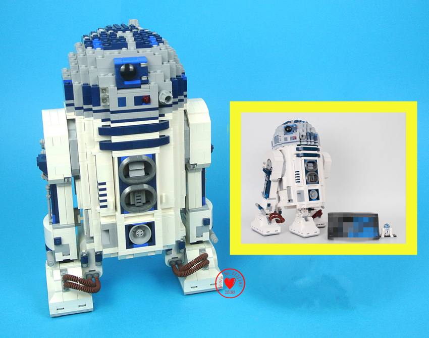 New Star wars 2127PCS R2-Robot Out of print D2 Building Blocks Bricks compatible legoes gift kid star wars boys Toys fit 10225 футболка классическая printio r2 d2 star wars dead star