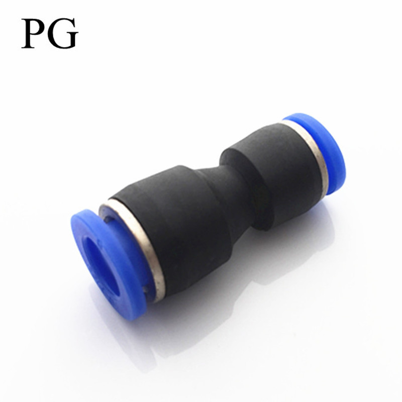 10PCS/LOT Pneumatic fittings reducer change diameter connector quick push in PG8-6 PG6-4 PG8-4 PG10-8 PG10-6 PG12-8 PG12-10 10pcs lot t type three pass reducer pneumatic fittings peg10 8 peg10 08
