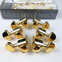 1Set 3R 3L Genuine Original Grover Guitar Machine Heads Tuners 18 1 Series Gold Without Original