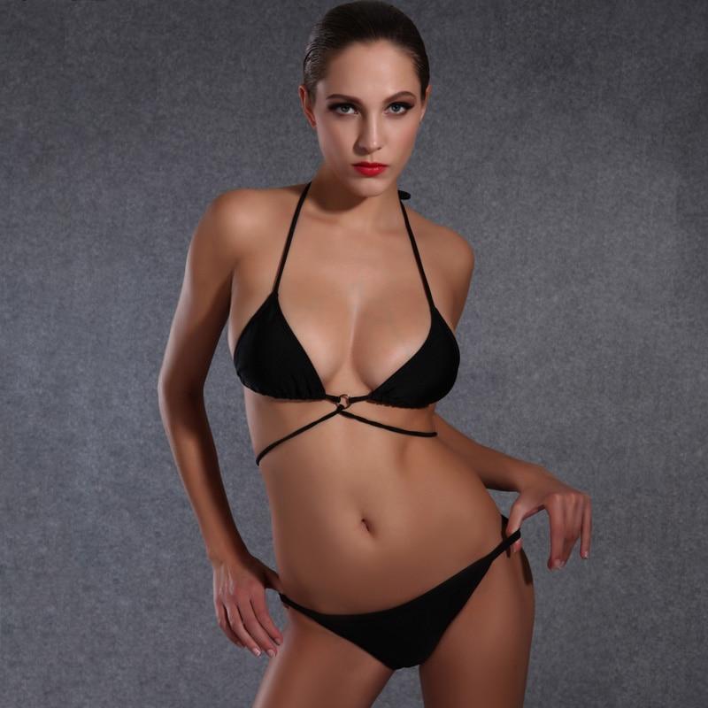 Busty swim suit model