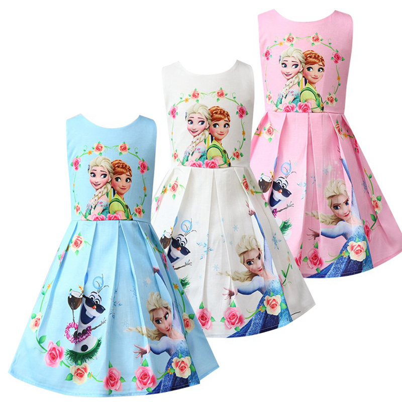 Hot Sale Floral Rapunzel Birthday Dress For Girl Kids Clothes Princess Anna Snow Queen Elsa Costume Elsa Dress Beach Party Dress elsa girls cloth dress anna girl s dresses princess dress party dress for baby kids queen infant costume party vestidos clothes