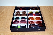 12 Grids Storage Case Display Sunglasses Jewelry Display Box Trays Holder
