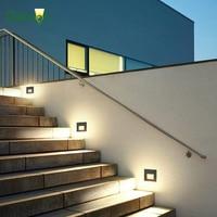 Led 계단 야외 벽 계단 조명 방수 recessed led 단계 벽 빛 3 w AC85-265V 탑재