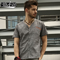 Free Shipping New men's Male fashion casual China style Shirt Men loose cotton short sleeved shirt color embroidery On Sale