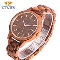 2017 venta caliente de las mujeres visten el reloj kenon hombres cebra de madera de madera del reloj del cuarzo de japón miyota movimiento de cuarzo relojes relojes mujer