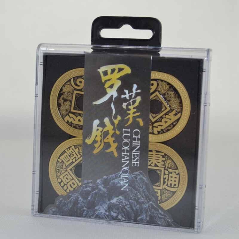 Chinois LuohanQian (Morgan Version Coin Taille 38mm) Deluxe Pièce Définit Tours de Magie Close Up Gimmick Prop Apparaître/Disparaître Coin Magie