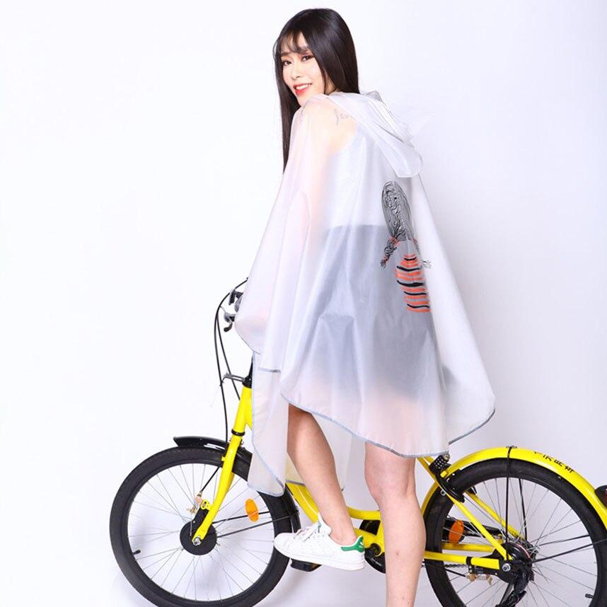 1 Pc Di Moda All'aperto Per Adulti Impermeabile Di Plastica Delle Donne Bici Della Pioggia Del Capo Con Cappuccio Mens Moto Impermeabile Poncho Impermeabile Con Il Disegno Riflettente