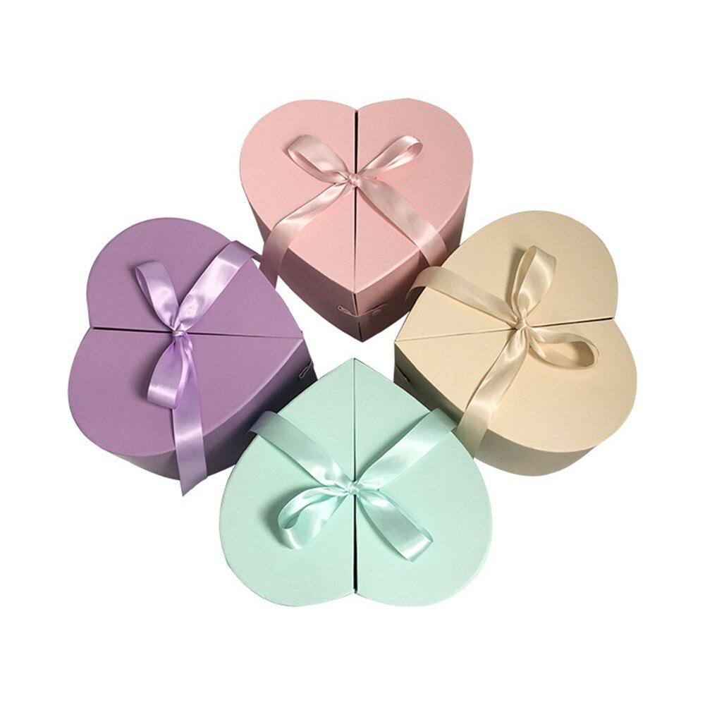 Boîte en forme de coeur nouveau design vente chaude boîte-cadeau fête des mères anniversaire/fête de mariage saint valentin paquet de cadeau boîte acheter 2 pièces 10% de réduction