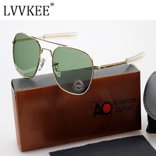USA Air Force Pilots MILITARY AO Brand Sunglasses Men Optical Glass Lens Metal Alloy Frame Aviation Sun Glasses Driving Eyewear