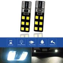 2x T10 Led w5w Led Automobiles 5000K 3030 12 SMD T10 Led żarówka canbus-ready 168 194 Led akcesoria samochodowe wewnętrzna lampka a3