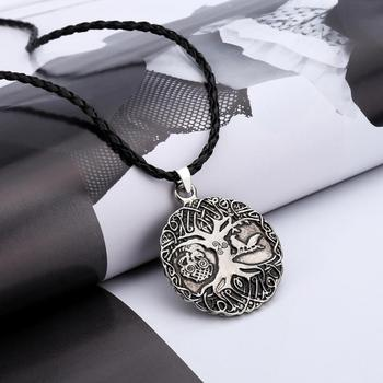 Superb Norse Viking Knot Amulet Necklace Pendant Soldiers Crow Chokers Necklaces Penguin Tree Nordic Talisman Ornaments Choker image