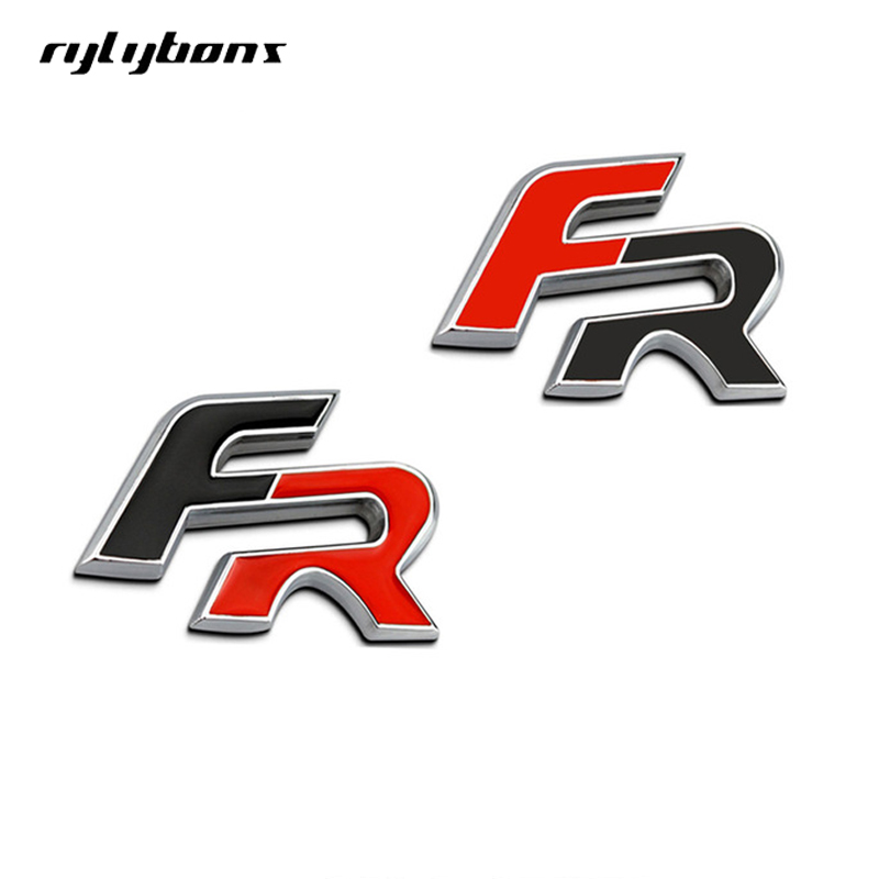 3D Metal Car Stickers For FR Emblem Badge Stickers Car Styling Stickers For Seat leon FR Cupra Ibiza Altea Exeo Formul Stcikers fr metal car stickers emblem badge for seat leon fr cupra ibiza altea exeo formula racing car accessories car styling