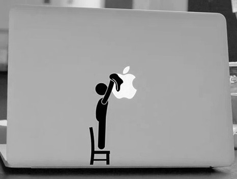Man logo sticker untuk apple macbook air 11 12 13 bersih pro 13 15 17 retina decal laptop mobil multi kulit vinyl pegatinas