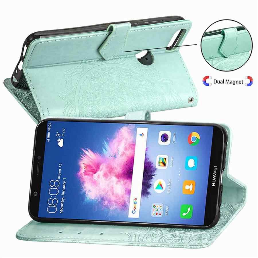 Cüzdan kılıf Kabartmalı mandala cep telefonu kılıfı Için Huawei P Akıllı/Zevk 7 S 5.65 inç kapak için Huawei P Akıllı 7 S 2017 telefon kılıfı