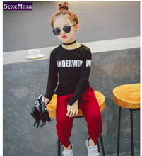 Child woman garments large letters to separate render unlined higher garment printing joker multicolor spherical collar fleece 2T-7T
