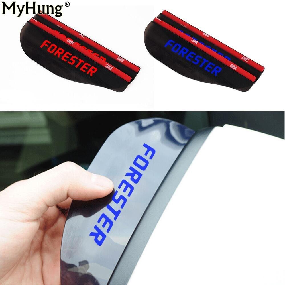 """2 vnt """"Subaru Forester"""" Naujų galinio vaizdo veidrodžių lietaus spalvos lietaus apsauginiai peiliukai Automobilių galinio vaizdo veidrodėlis Antakių lietaus dangtis Automobilių priedai"""
