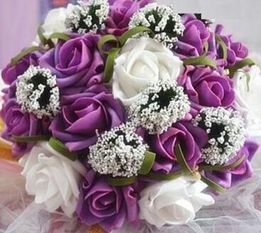 Buket Bunga Mawar Pernikahan Romantis Baru Warna Warni Pengantin Buket Merah Muda Biru Dan Ungu Pengantin Pengantin Memegang Karangan Bunga Wedding Bouquets Feathers Bouquet Bluewedding Fuchsia Aliexpress