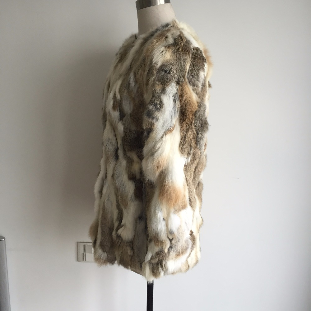 firstyellow Llegada grassgrey Animales Yellowgrass Nueva Pieles 100 Colores 2018 Real Mujer Chaqueta Moda Ah125 Natural Multi Capa Conejo De q8TawF5U