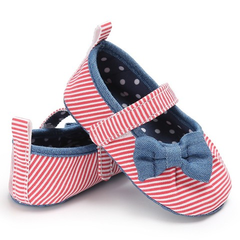 Newborn Baby Girls Shoes Butterfly-knot Kids First Walkers Shoes Infant Babe  Soft Bottom Striped Shoes Islamabad
