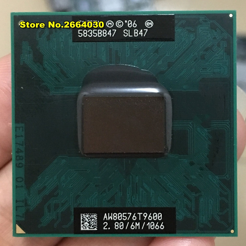 CPU ordinateur portable Core 2 Duo T9600 CPU 6 M Cache/2.8 GHz/1066/Dual-Core Socket 479 processeur t9900 P9600 GM45 PM45
