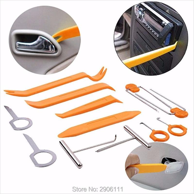 12pcs Car Stereo Installation Kits Car Radio Removal Tool for BMW e46 e90 e39 f30 f10 e36 e60 x5 e53 f20 e34  car-styling car door lock cap removal tool
