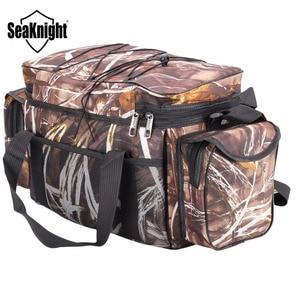 Image 4 - SeaKnight SK003 Fishing Bag Reel lure Bag Multifunction Fishing Backpack 50cm*27cm Reel Case Camouflage Khaki Fishing Tackle Bag