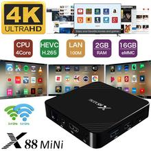 X88 Mini Smart TV Box RK3328 HD Network Player Android 9.0 2G 16G Voice Version Set-top Box Android Tv Box padear z28 android 7 1 rk3328 2g 16g 4k hdr tv box