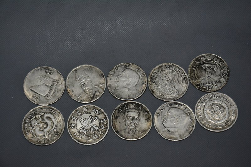 Rare old Chinese QingDyansty silver coin,10 piece/sets,#01,Free shipping