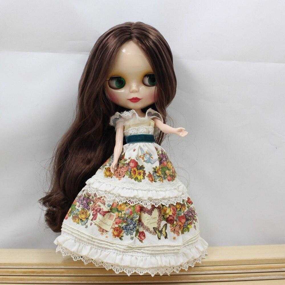 280BL0222 Brown hair white skin Neo Factory Blyth Doll 1/6 doll nude blyth for 12 blyth doll trend white dress clothing blyth doll