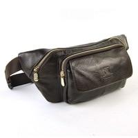 Men Genuine Leather Real Cowhide Shoulder Bag Large Purse Classic Hip Belt Multi Function Organizer Fanny