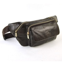 Men Genuine Leather Real Cowhide Shoulder Bag Large Purse Classic Hip Belt Multi Function Organizer Fanny