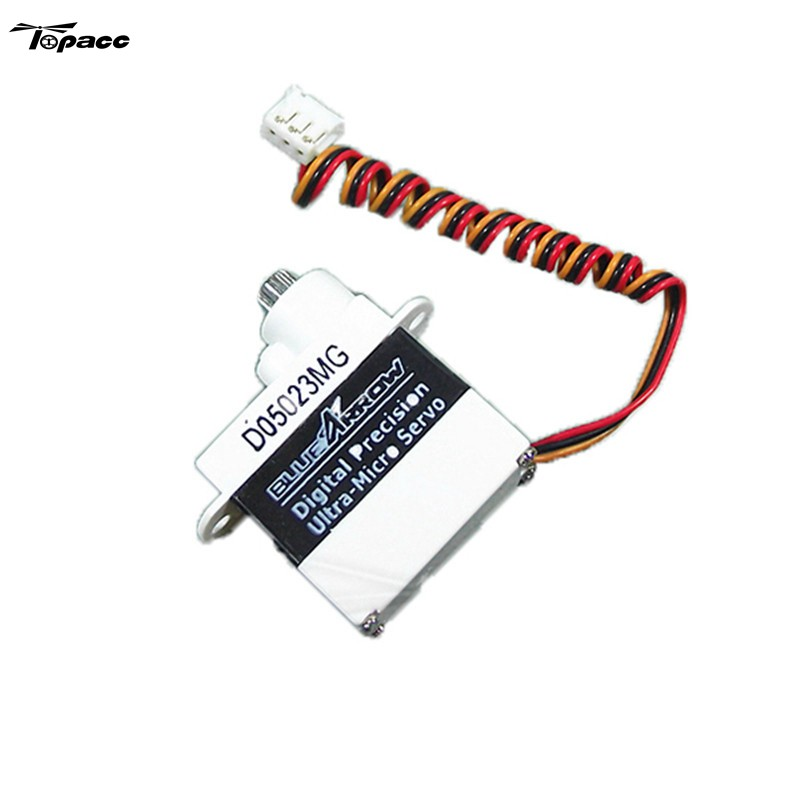 Hot New Servos Bluearraow D05023MG Upgrade Metal Servo For WLtoys V950 RC Helicopter Parts Toys Accessories 24v pull hold release 10mm stroke 6 3kg force electromagnet solenoid actuator
