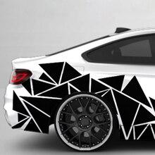 Mayitr 1 шт., 200x60 см, матовый черный треугольник, автомобильная боковая наклейка, камуфляж, автомобильный стиль, Виниловая наклейка, декор для украшения автомобиля