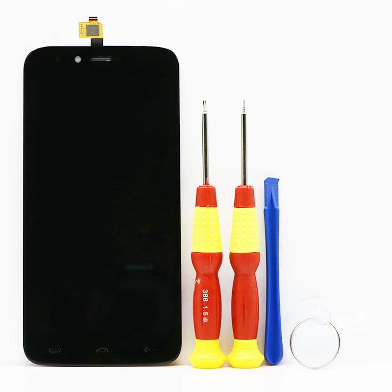 Neue original Touchscreen LCD-Display Lcd-bildschirm Für HOMTOM HT50 Ersatzteile + Zerlegen Werkzeug + Kleber KLL-C55399GFF-V03
