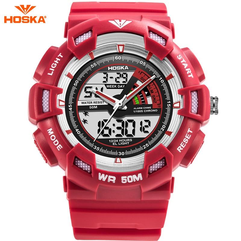 Hoska Digital Watch Kids Students Stopwatch Repeater Chronograph Style Shock 50m